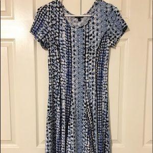 Dress | short sleeve | small | blue calf length